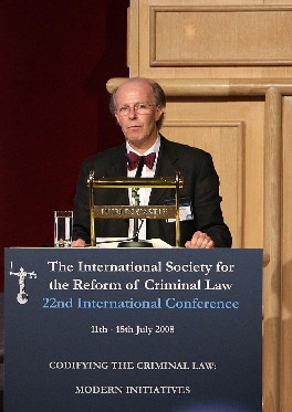 Professor Finbarr McAuley, Chairman of the Criminal Law Codification Advisory Committee